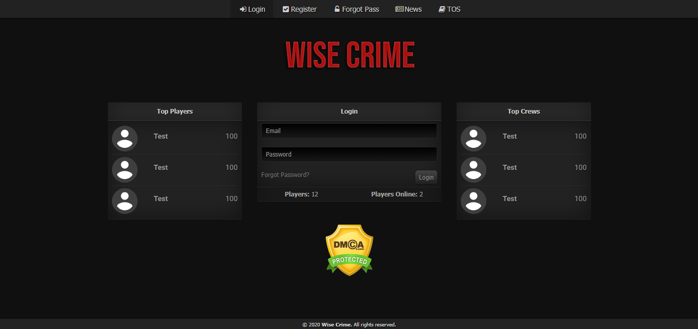 Wise Crime at Top Web Games